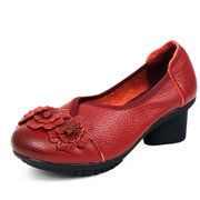 Hot-sale Genuine Leather Handmade Flower Loafers Soft Flat Casual Shoes - NewChic Mobile