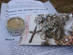 Our organic Rosemary Sugar comes complete with Recipe 'Letter' for Rosemary Sausage Corn Muffins in a handmade envelope with religious iconography. A personal and unique gift. www.etsy.com/listing/215665189/rosemary-sugar-with-recipe-letter
