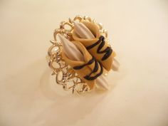 Cannolli Ring by DreamlandMiniatures on Etsy, $15.00