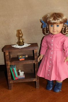 "MADE: Pieces For Reese: 18"" Doll: Nightstand or Small Bookshelf Tutorial"