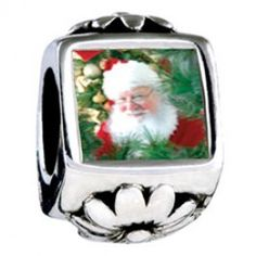 Santa Claus Is Here Photo Flower Charms  Fit pandora,trollbeads,chamilia,biagi,soufeel and any customized bracelet/necklaces. #Jewelry #Fashion #Silver# handcraft #DIY #Accessory