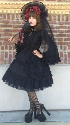 "Another shot of my ""Lolita Price Tag"" outfit."
