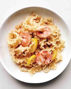 Mafaldine with Shrimp and Lemon