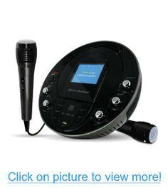 Electrohome EAKAR535 Portable Karaoke CD+G/MP3G Player Speaker System with 3.5 Screen, USB, MP3 Input $ Bonus Additional Electrohome EAKARMIC Dynamic Karaoke Microphone