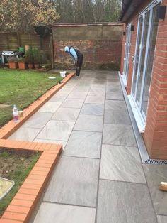 Silver Grey Indian Sandstone Paving slabs 900x600 Large size paver slabs