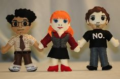 IT felt dolls by Cat Carlisle, I'm going to make the Doctor and Rose and Donna for Liv and Mia
