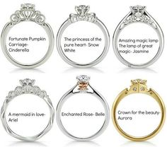 Disney Princesses inspired engagement rings ^^