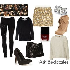 Holiday Outfit - Sequins & Sweaters