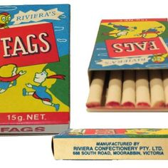 Fags lolly cigarettes - could you imagine these being sold today?!