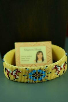Native American Beaded Prayer Feather, Horse and Starburst Bracelet by Sharon Hunt