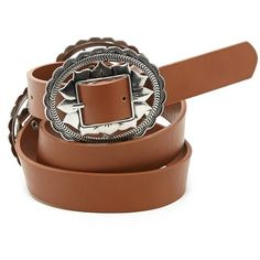 Forever21 Faux Leather Belt ($13) ❤ liked on Polyvore featuring accessories, belts, tan, polyurethane belt, tan belt, forever 21 belts, buckle belt and forever 21