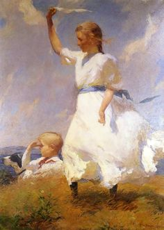 The Hilltop | Frank W. Benson | Hand Painted Reproduction
