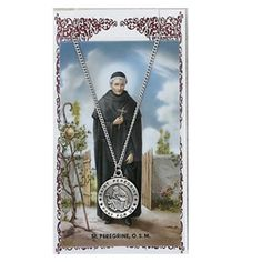 "Pewter St. Peregrine Medal & 24"" Chain, Prayer Card Set. Hail Mary Gifts, http://www.amazon.com/dp/B005RS5B5E/ref=cm_sw_r_pi_dp_4M0Zpb1EXE2EF"