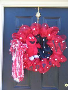 Western Kentucky University Wreath, available on Etsy