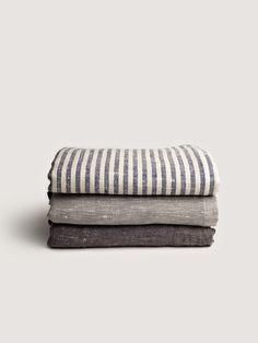 chambray linen blanket