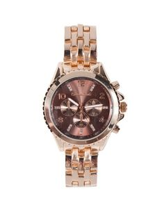 rose gold watch <3 love this. I just goat a similar one for $5. =)