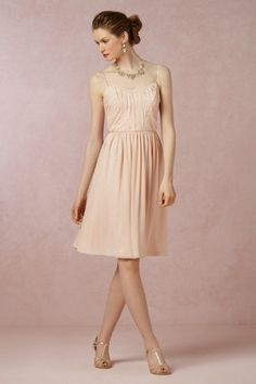 Giselle Dress - blush  I like both colors and think it would look great in either color with the Amelie Topper or a sparkly sash.