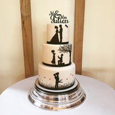 Amazing Wedding Cake Design Ideas 2019 For Your Special Day Pretty Wedding Cakes, Luxury Wedding Cake, Beautiful Birthday Cakes, Elegant Wedding Cakes, Elegant Cakes, Beautiful Wedding Cakes, Wedding Cake Designs, Silhouette Wedding Cake, Silhouette Cake