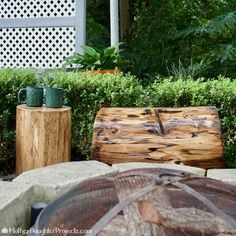 Next time you're at Home Depot, buy some cinder blocks to make this awesome idea for your backyard!