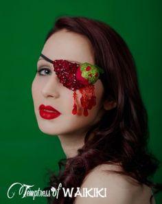 Snow white apple eye patch