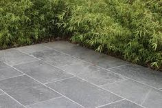 Modern bluestone paving