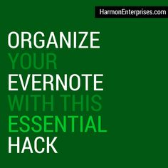 Learn a key organizational hack that Evernote Business Certified Consultant Stacey Harmon uses to create an Evernote workspace that supports maximum productivity. In this post, she answers one of the most common questions she gets when people see screenshots of her personal Evernote account and explains the logic behind it. Learn the lesson and apply it to your account to improve your Evernote efficiency.