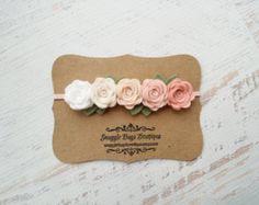 Ombre fucsia y púrpura Garland rosa diadema por SnuggleBugsBowtique