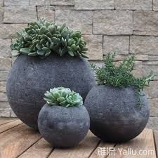 Image result for lava stone pots