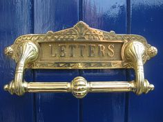 Ex Display Victorian Style Brass Letter Box & Pull handle letterbox plate door   eBay