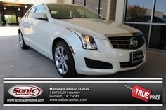 White Diamond Tricoat sets off the don't you agree? Cadillac Ats, Drive A, Driving Test, Cars For Sale, Dallas, Bmw, Diamond, Vehicles, Cars For Sell