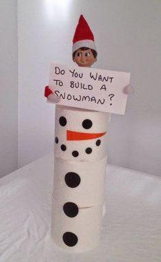 Most up-to-date Photographs 10 Creative elf on the shelf return ideas - Build a Snowman Forzen fans are mel. Tips 10 Creative elf on the shelf return ideas – Build a Snowman Forzen fans are mel…, Christmas Traditions, Christmas Activities, Der Elf, Elf Auf Dem Regal, Elf Magic, Naughty Elf, Buddy The Elf, Build A Snowman, Album Design