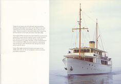 Built in the 1920s, Sir Timothy Sainsbury's Fair Lady is one of the most elegant yachts at sea today, with a fine collection of twentieth century British art, often rented for high profile events such as the Cannes film festival. Assorted Images produced a brochure to display Fair Lady's attractions, written by Kasper de Graaf and designed by Norman Hathaway. My Fair Lady, Cannes Film Festival, Yachts, Sailing Ships, Norman, 1920s, The Twenties, Attraction, British