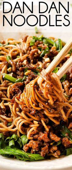 Dan Dan Noodles Pork Recipes, Asian Recipes, Real Food Recipes, Cooking Recipes, Healthy Recipes, Ethnic Recipes, Easy Recipes, Healthy Meals, Delicious Recipes
