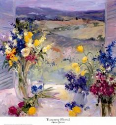 Tuscany Floral Art Print by Allayn Stevens at Art.com