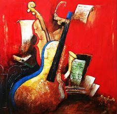 Cuadros Modernos Pinturas y Dibujos : Bodegones Musicales al Óleo (Pintura y Música) Painting, Inspiration, Musical Instruments, Modern Paintings, Wine Cellars, Painting & Drawing, Abstract, Portraits, Artists