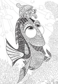 Disney Finding Dory Adult Colouring Book Nemo Fish Sea Ocean French Animals Film 3 is part of Coloring books - Printable Adult Coloring Pages, Disney Coloring Pages, Animal Coloring Pages, Coloring Pages To Print, Coloring Books, Coloring Pages For Adults, Mandalas Painting, Mandalas Drawing, Mandala Coloring Pages