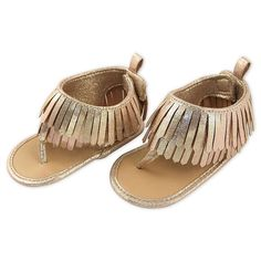 Put the finishing touches on a super cute outfit with these stylish Rising Star Gold Metallic Fringe Sandals. These awesome sandals feature a fringe trim and are the perfect choice for almost any outfit this spring or summer. Girls Shoes, Baby Shoes, Fringe Sandals, Buy Buy Baby, Older Women Hairstyles, Fringe Trim, Girls Accessories, Cute Outfits, Stars