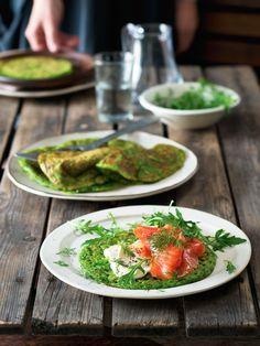 Zábavné zelené lívance jsou dobré horké, ale chutnají i zastudena, a tak se hodí i jako pohoštění na party nebo jídlo na druhý den. Guacamole, Mexican, Ethnic Recipes, Party, Parties, Mexicans
