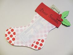 Sincerely, Babette: Christmas. sizzix stocking die..