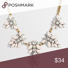 """J.Crew Gemstone Blossoms Necklace This gorgeous necklace is made from glass and epoxy stones with light gold ox plating. Length: 18"""" with a 3"""" extender chain for adjustable length. Happy Poshing! J. Crew Jewelry Necklaces"""