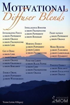 Motivational Diffuser Blends for different uses of essential oils. How can you mix up and use your essential oils like peppermint, orange, rosemary, bergamot and many more. Mix up a blend to give yourself some energy in the morning or to boost your mood. Essential Oil Diffuser Blends, Doterra Essential Oils, Doterra Diffuser, Essential Oils Energy, Relaxing Essential Oil Blends, Oils For Energy, Doterra Blends, Essential Oils Snoring, Oils For Diffuser