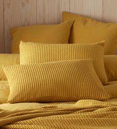 Mustard Yellow Big Waffle Cushion Cover | Secret Linen Store