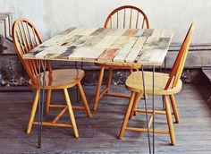 3 Mesas elaboradas con palés
