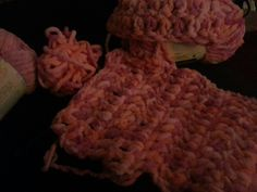 WIP: scarf & hat set for Caysen. Christmas gift 2013