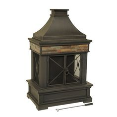allen + roth Brown Steel Outdoor Wood-Burning Fireplace at Lowes!  Me want really really bad!
