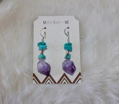 Kingman Turquoise Amethyst Point Sterling by MotherEarthEqualsMe