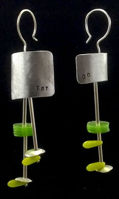 TRY DO 2 , sterling silver, glass and acrylic earrings by #POLAOSLO Design at www.polaoslodesign.com