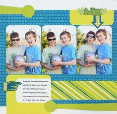 A Boy and His Toys Be Young #Scrapbook Layout Project Idea from Creative Memories  http://www.creativememories.com