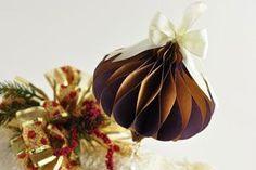 DIY Honeycomb Ornament