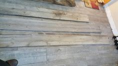 can barely tell difference between AUTHENTIC barnwood & barnwood tile floor